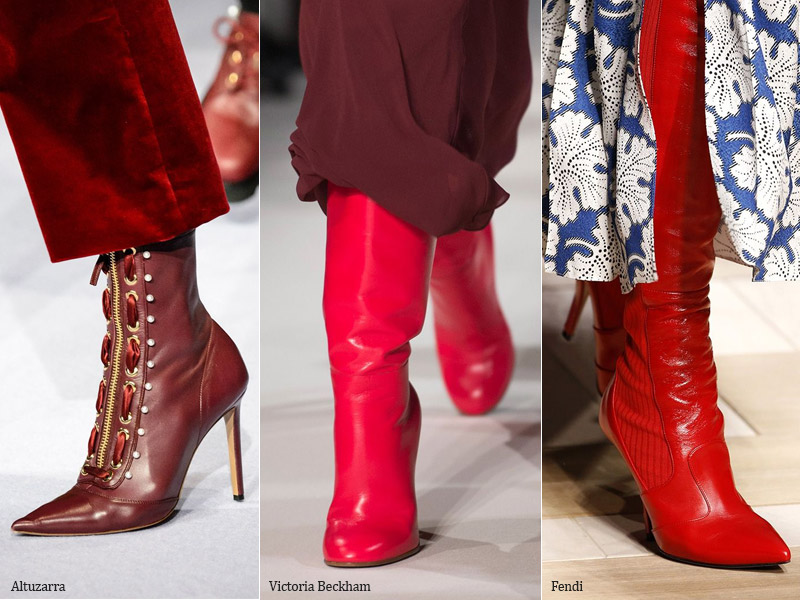 Red Boots - Fashion Trends Shoes Autumn 2017 / Winter 2018