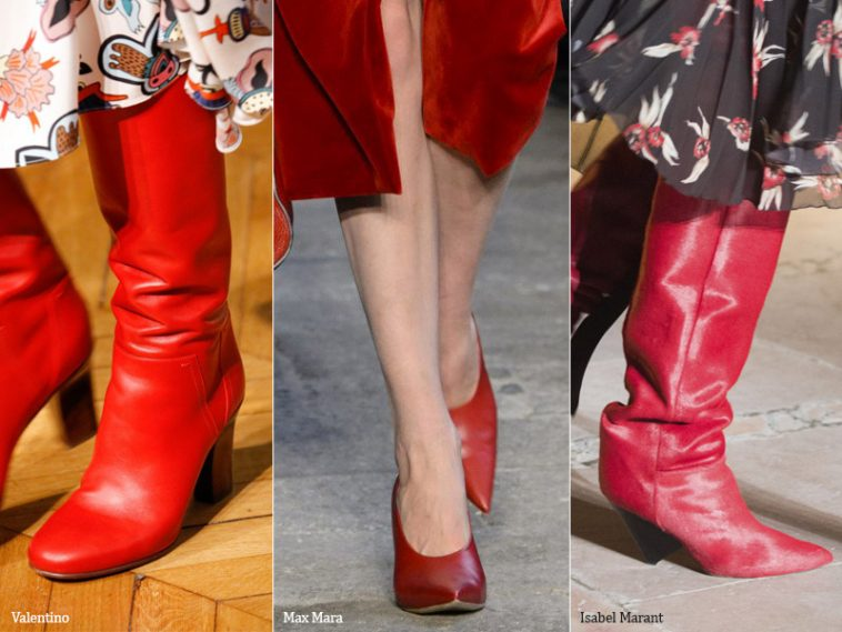 Red luxury - fashion trends autumn shoes 2017 / winter 2018
